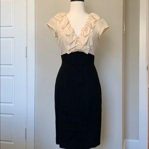Rebecca Taylor Ruffle Pencil Dress
